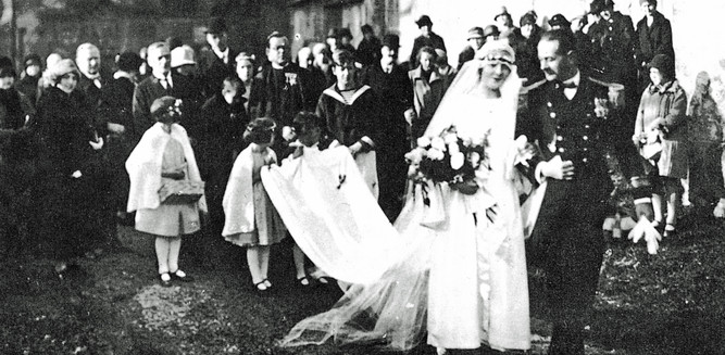 The wedding of Maria Augusta Kutschera and Baron Georg von Trapp | © Trapp Family Lodge Stowe/Vermont USA