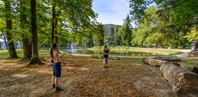 Beach at the Volksgarten as a gathering point for the young | © Tourismus Salzburg GmbH / G. Breitegger