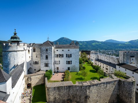 View of the Fortress Hohensalzburg from above | © Tourismus Salzburg GmbH