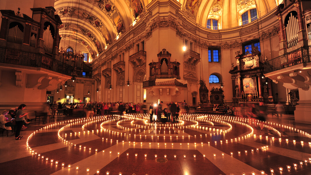 Lightlabyrinth at Salzburg Cathedral | © Stefan Lochschmidt