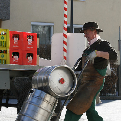 The Driver of the Stieglbier Wagon at work  | © Veronika Zangl MMPR