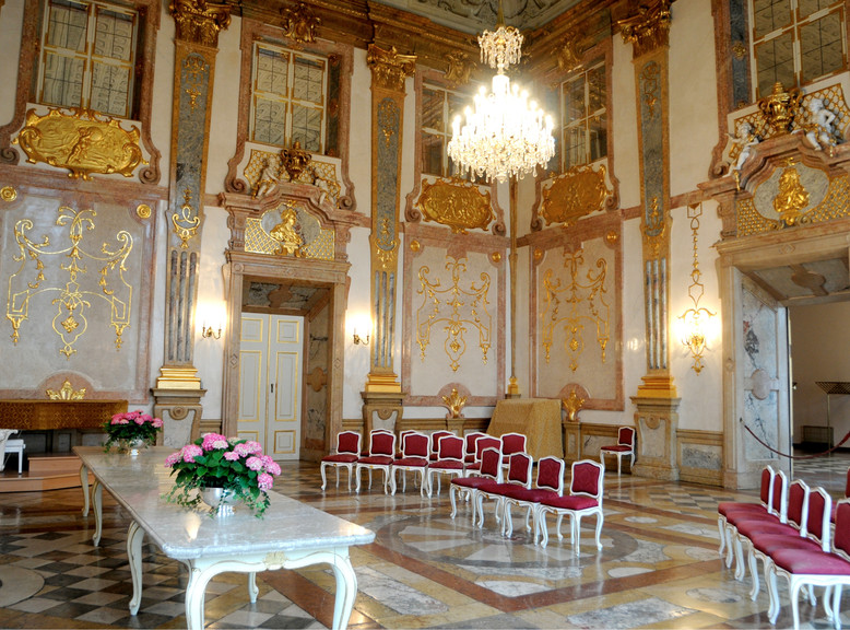 The Marble Hall at Mirabell Palace as a popular weeding location  | © Johannes Killer