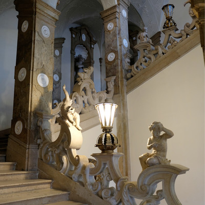 The staircase to the Marble Hall at Mirabell Palace | © christina-schreibt