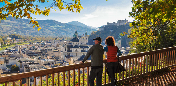 View to the Old Town of the City from the Mönchsberg | © Tourismus Salzburg GmbH