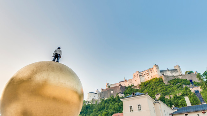 View from the Chapter Square to the Fortress Hohensalzburg  | © Anibal Trejo
