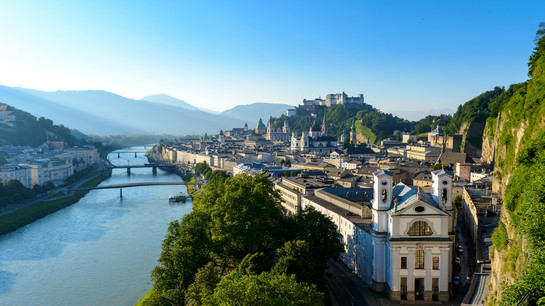 View from the Mönchsberg to the old town of Salzburg | © Tourismus Salzburg GmbH