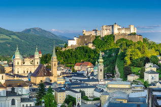 View at fortress Hohensalzburg and the Old Town of Salzburg | © Tourismus Salzburg, Foto: Breitegger Günter
