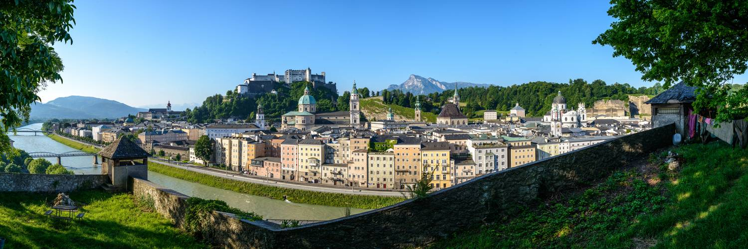 Panorama of the Old Town of Salzburg from Kapuzinerberg  | © Tourismus Salzburg, Foto: Breitegger Günter