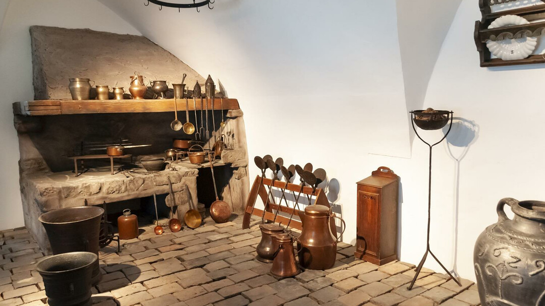 Kitchen in the Middle Ages in the fortress museum | © Salzburg Museum / Bianca Würger