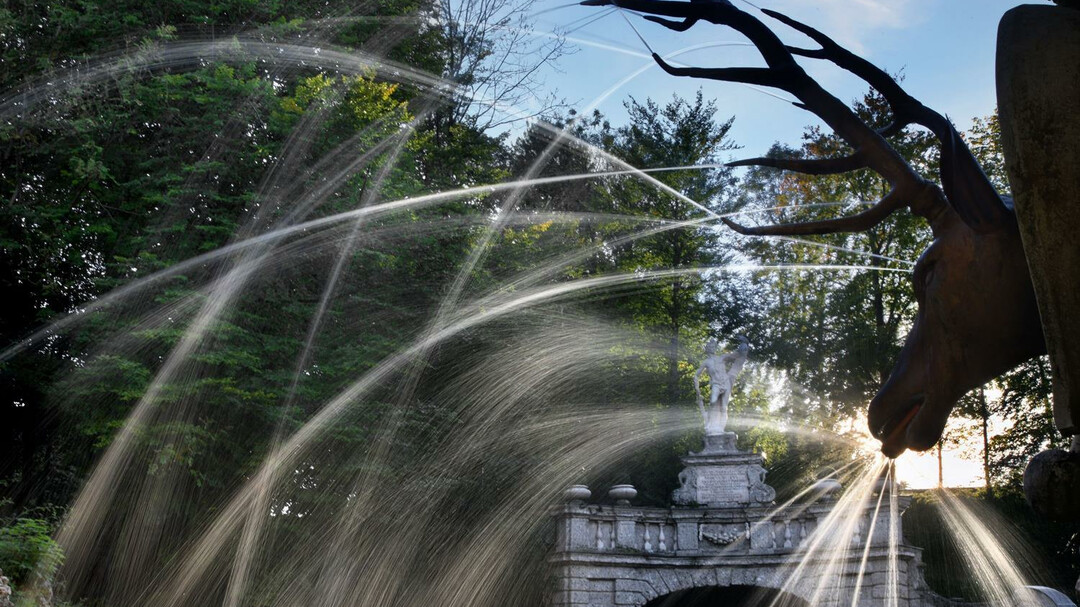 Trick Fountains at Hellbrunn: deer | © Schlossverwaltung Hellbrunn