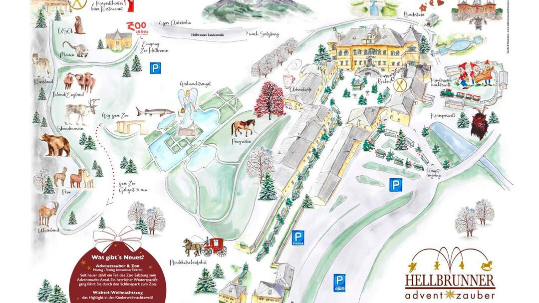 Salzburg Christmas Market Map.Hellbrunner Adventzauber Advent In Salzburg Salzburg Info