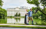 Leopoldskron Palace and the Fortress Hohensalzburg | © Tourismus Salzburg