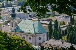 Sebastianskirche with the cemetery in the back | © Tourismus Salzburg/ G.Breitegger