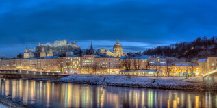Panorama of the Old Town of Salzburg | © Tourismus Salzburg