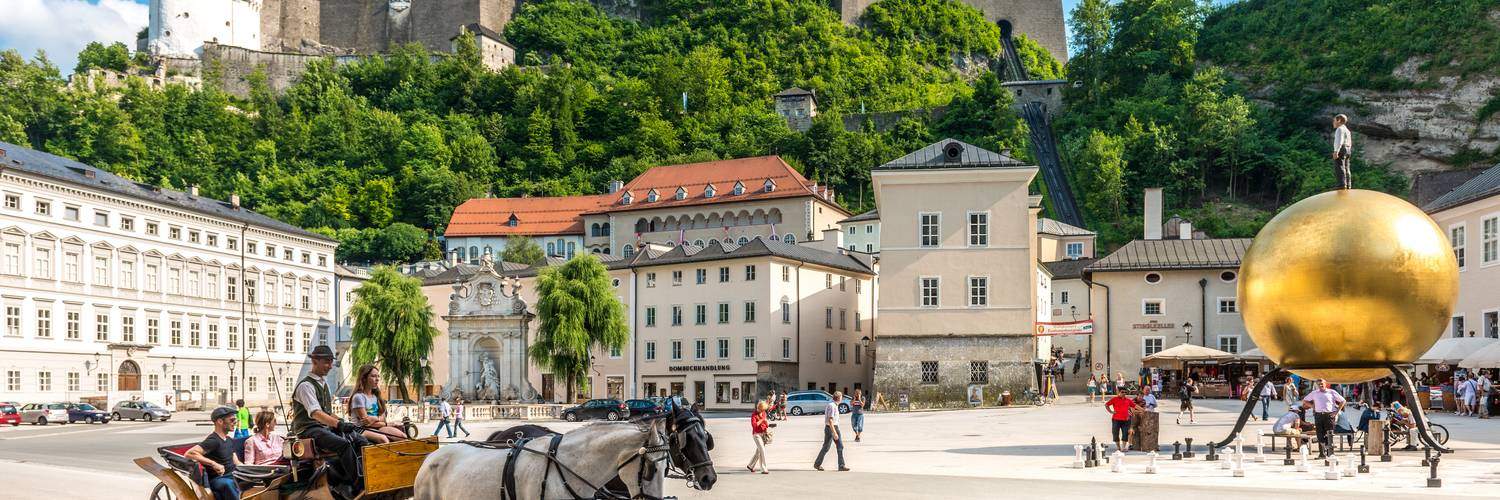 Viewing from Kapitelplatz in Salzburg on the Hohensalzburg fortress | © Tourismus Salzburg