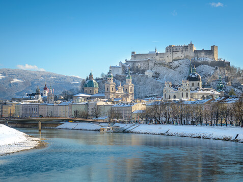 Panorama of Salzburg in Winter  | © Tourismus Salzburg / G. Breitegger