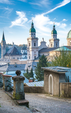 Salzburg Cathedral seen from the Festungsberg | © Tourismus Salzburg / G. Breitegger